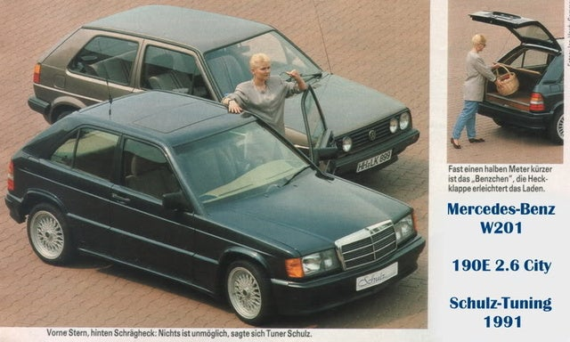 Mercedes 190e City----The strangest car to ever have lived