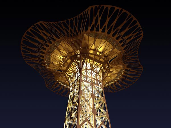 Eiffel Tower's Massive New Observation Deck to be Made of Kevlar Webbing