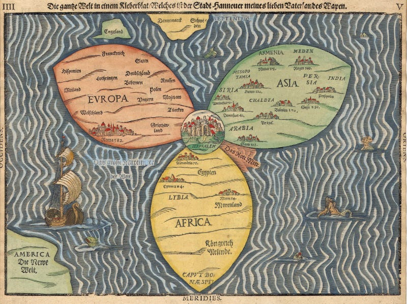 These Rarely Seen Maps Turn Earth Into A Land From A Fantasy Novel