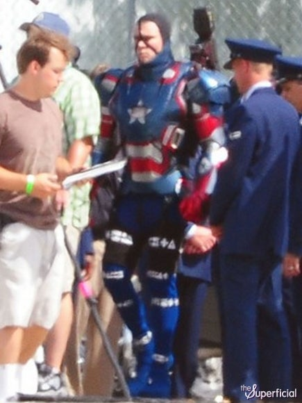 The Iron Patriot Suit, and First Set Pictures From Iron Man 3
