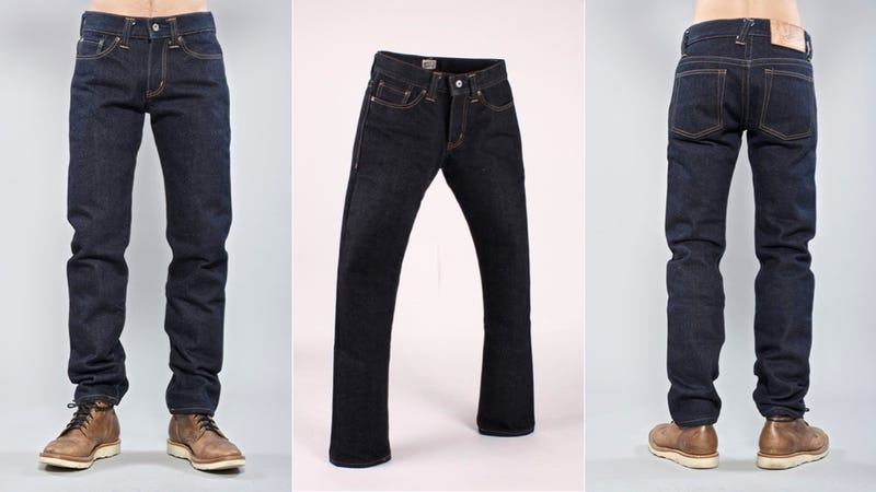 These Jeans Are Made with Denim So Heavy They Can Stand on Their Own