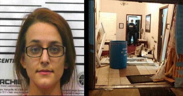 """Woman Stabs Husband for """"Worshipping Nascar,"""" Crashes Car Into Church"""