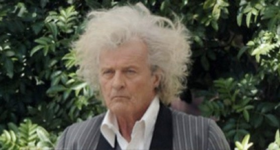 OMG Rutger Hauer's hair on the set of True Blood