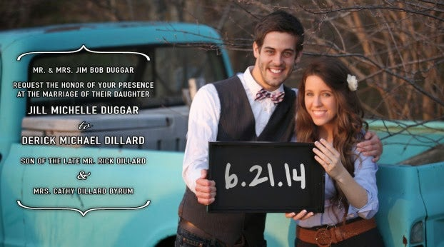 Happy wedding day Jill Duggar & Derick Dillard! ETA: First pics!