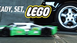 Watch A Lego Car Race A Porsche 911 And Win