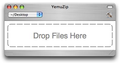 Drag and drop zip archives with YemuZip