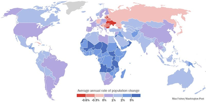 The Only Population Map You Need to Understand the World