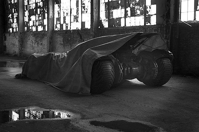 Behold, The First Look At Batman Vs. Superman's New Batmobile