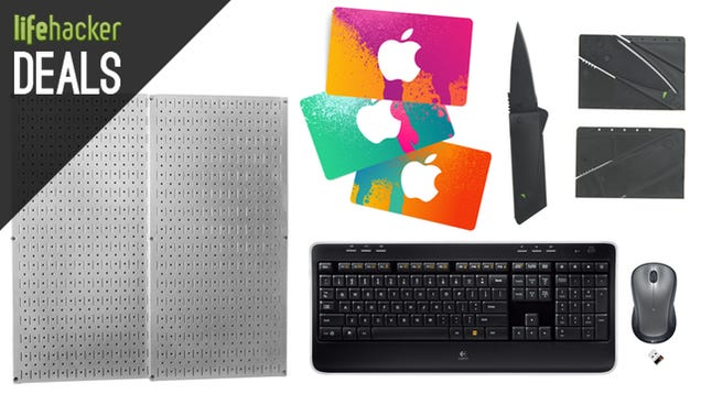 Cover Your House in Pegboard, $1 Credit Card Knife, iTunes Gift Cards