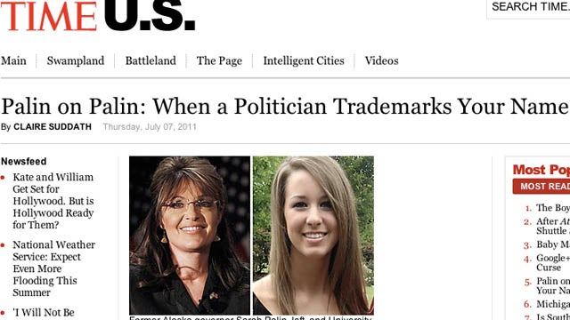 The Other Sarah Palin Lives In Texas, Will Have Her Name Trademarked By The Politician