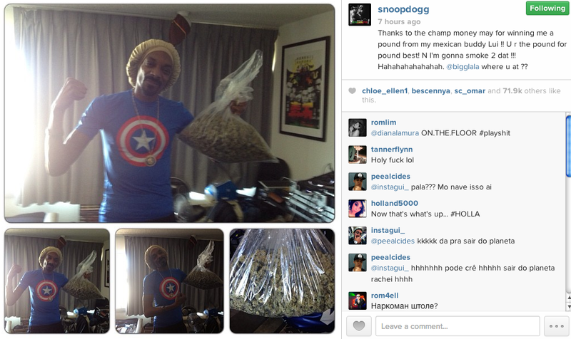 Floyd Mayweather's Victory Won Snoop Dogg a Pound of Weed