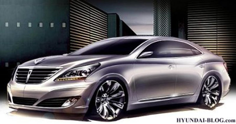 2010 Hyundai Equus Sketches Hit The Web
