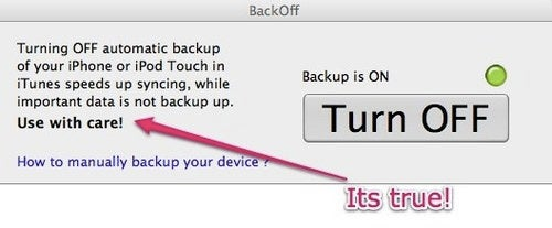 BackOff Shortens Long iPhone and iPod touch Sync Sessions