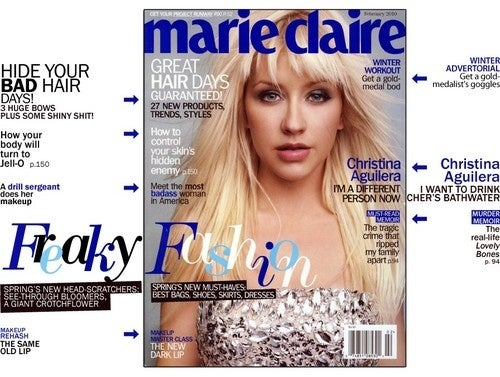 "February Marie Claire Reveals Secret Horror Known As ""Aging"""