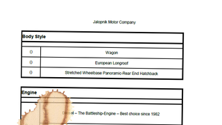 Sensation: I obtained an order list for a secret Jalopnik car!