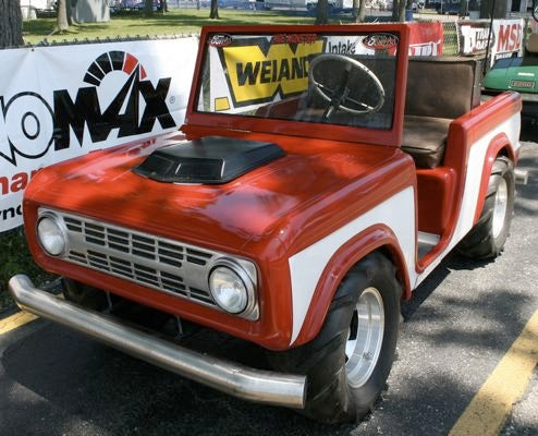 Mini Ford Bronco Conquers All Pit Lane Terrain