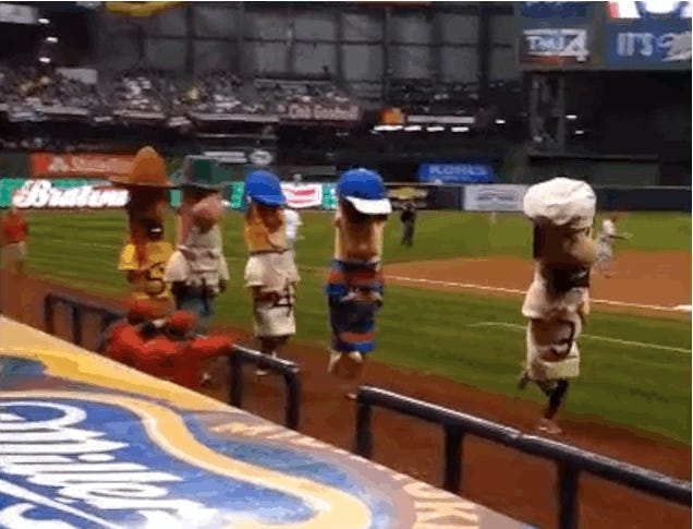 Chorizo Sausage Eats It During Sausage Race