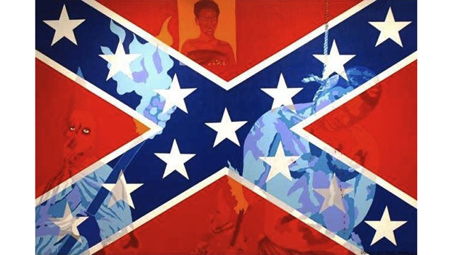 Confederate Flag Art Removed After Complaints