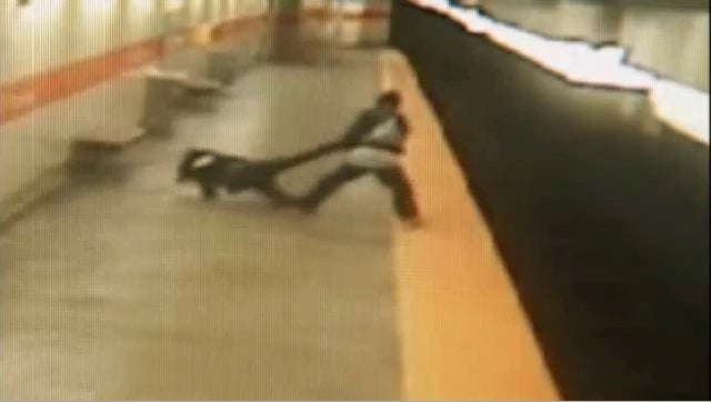 Harrowing Surveillance Footage Shows Woman Getting Punched, Dragged, and Thrown Onto Subway Tracks in Philadelphia