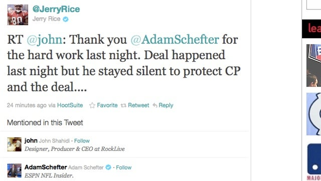 ESPN's Adam Schefter Traded Carson Palmer To The Raiders, Or Something (UPDATED)