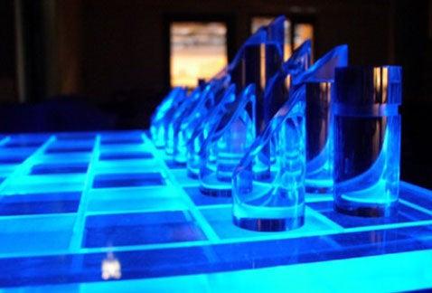 Glow In The Dark Chess Matches Radioactive Kasparov