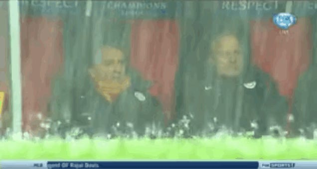 Champions League Match Postponed Due To Biblical Hailstorm
