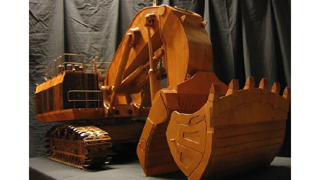 This Wooden Excavator Won't Demolish a House but Its Details Will Blow Your Mind