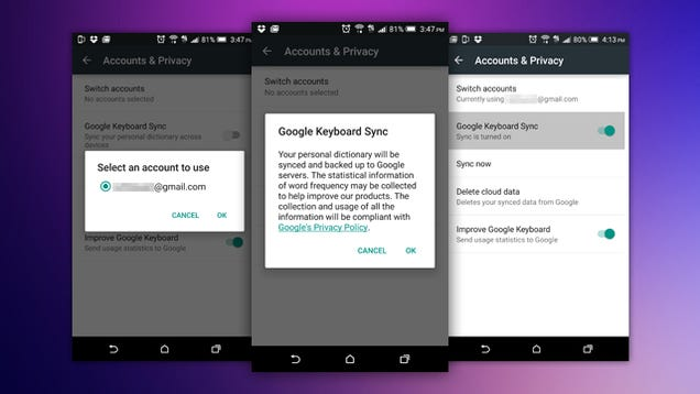 Google's Android Keyboard Can Now Sync Your Dictionary Across Devices