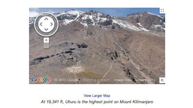 Google Maps Now Lets You Explore Everest, Kilimanjaro; Or You Could Just Look at a Pile of Sand