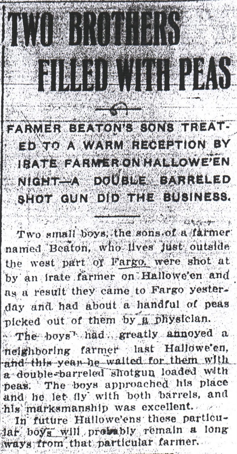 This is history's greatest news article about someone shooting a shotgun full of peas