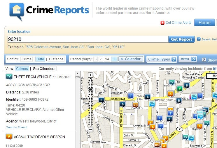CrimeReports Maps Out Local Crimes
