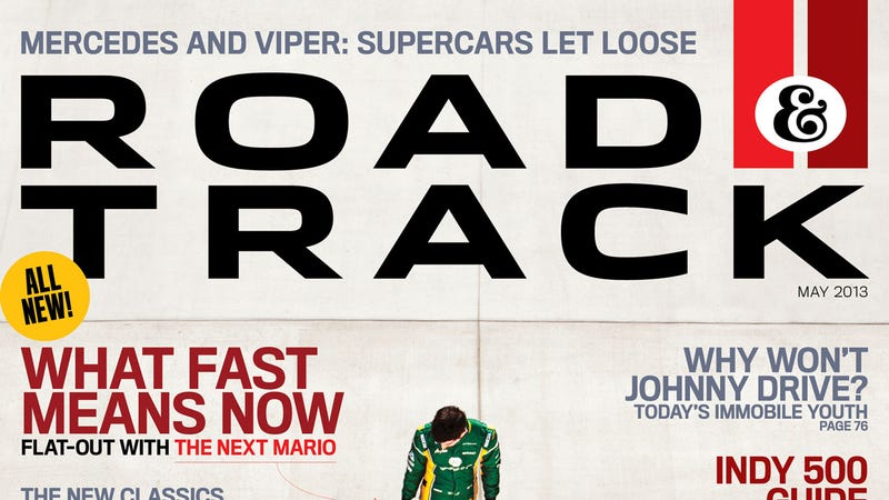 This is the new Road & Track magazine