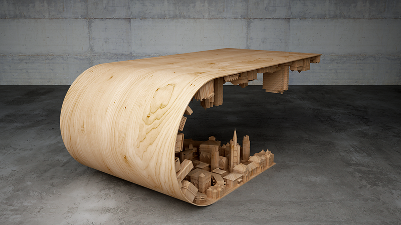 Practical 3-D Printing Looks Like a Crazy $4,500 Coffee Table