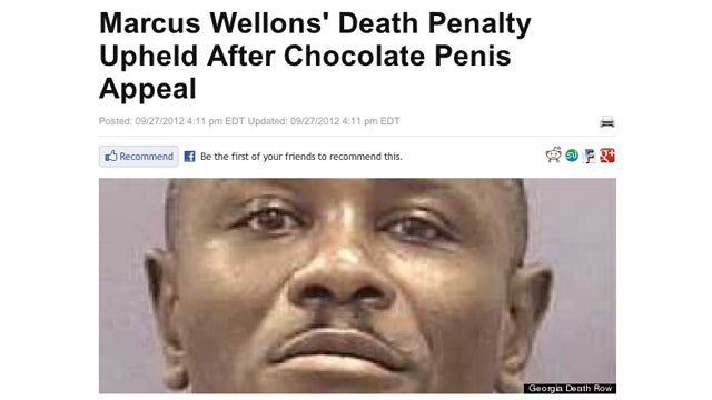 What Does This Headline About a Chocolate Penis and Death Row Mean?
