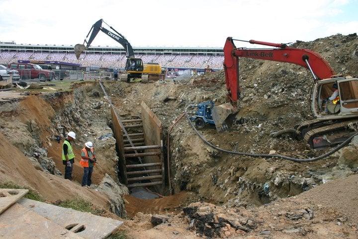 Massive Sinkhole Threatens NASCAR Racetrack