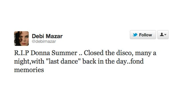 Twitter Says Goodbye to Donna Summer