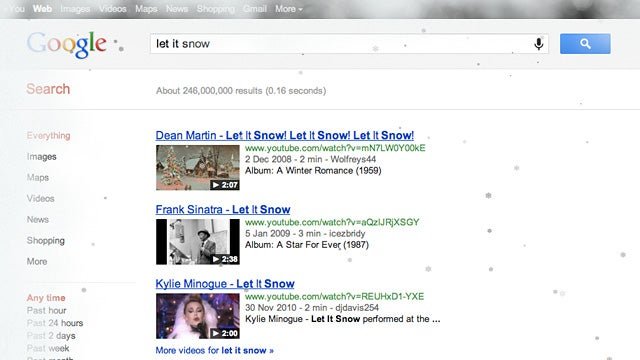 "A Google Search For ""Let It Snow"" Guarantees a White Christmas"