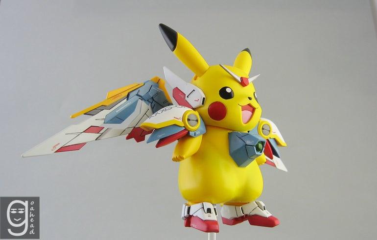 Pikachu Meets Gundam Meets Holy Crap