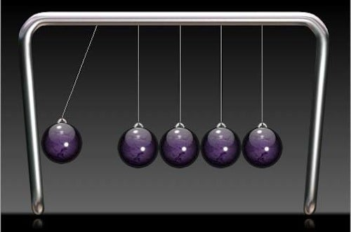 Deadly Sound Bullets Spring From Newton's Cradle