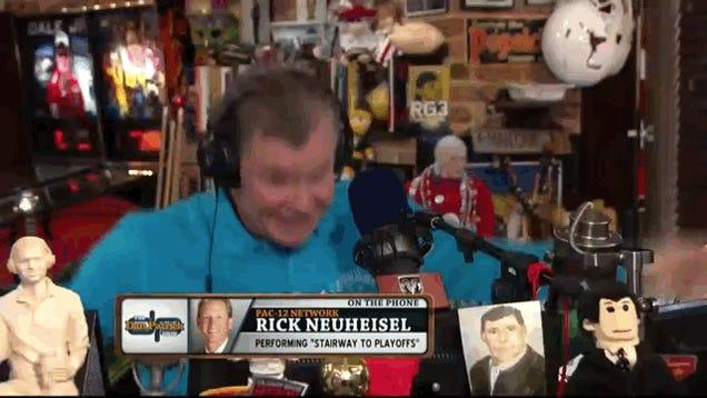"Rick Neuheisel Shreds His Way Through A ""Stairway To Heaven"" Cover"