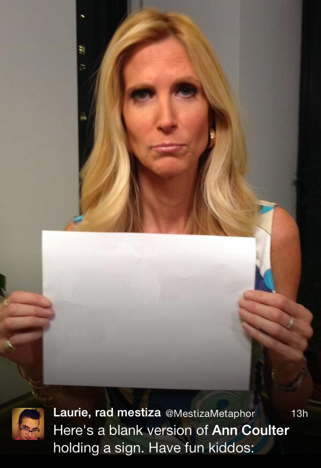 Here Is a Collection of Twitter Trolls Teaching Photoshop to Ann Coulter