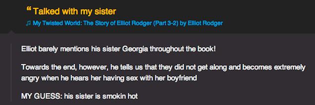 Rap Genius Cofounder's Creepy Comments on Elliot Rodger's Memoir