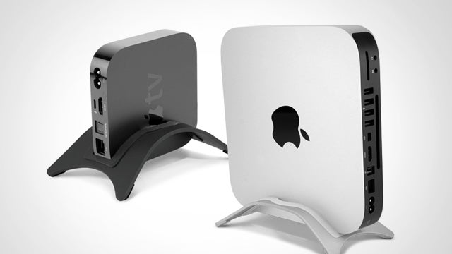 The NewerTech NuStand Holds Your Apple TV and Mac Mini Vertically to Save Space