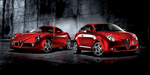 Alfa Romeo Mi.To Meets 8C Competizione In Photo Studio, Wants Some Attention Too