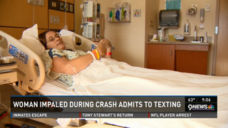 Woman Texting While Driving Gets Into Horrific Crash, Impaled in Butt