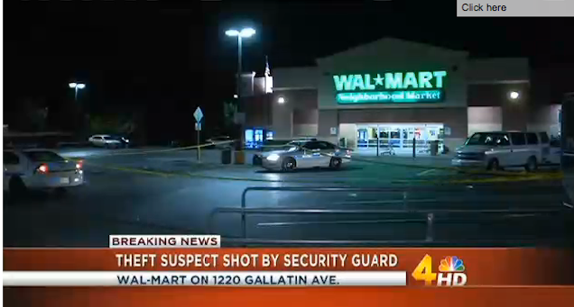 Walmart Security Guard Shoots Alleged Beer Thief in the Back