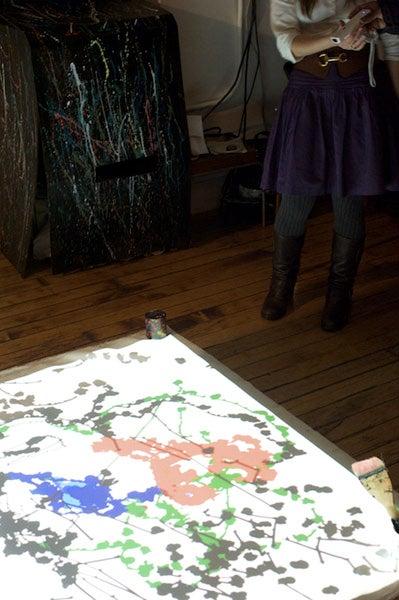 Channel Jackson Pollock's Drunken Splatters With a Wiimote