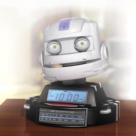 Mr. Clock Robot Alarm Doesn't Take No for an Answer