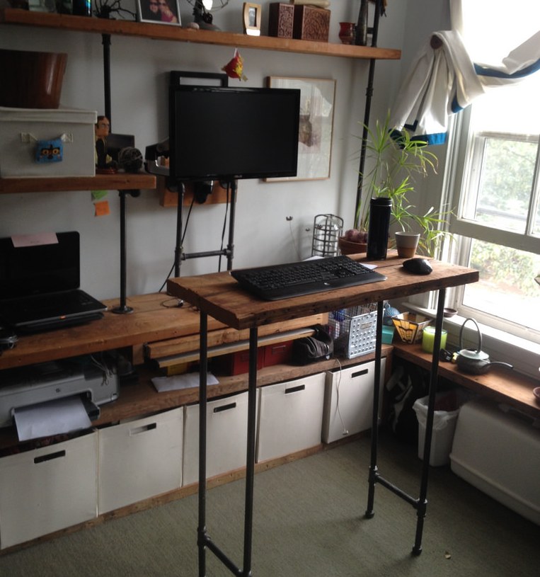 The Sit-or-Stand Open Shelving Workspace
