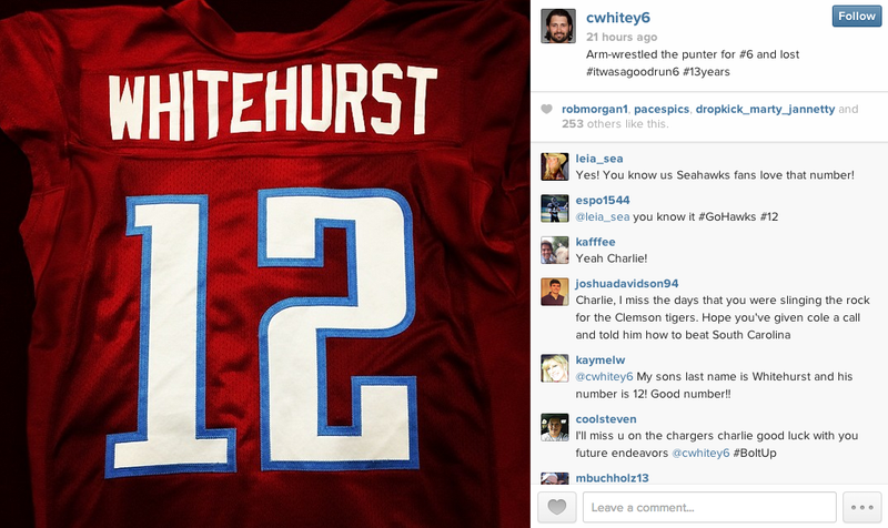 Charlie Whitehurst Arm-Wrestled A Punter For A Uniform Number, And Lost
